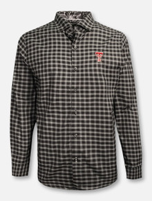 "Tommy Bahama Texas Tech Red Raiders ""Sport Competitor"" Checkered Long Sleeve Dress Shirt"