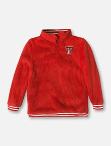 ZooZatz Texas Tech Red Raiders Sherpa 1/4 Zip YOUTH Pullover