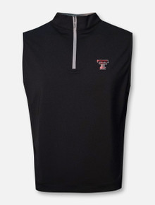 "Peter Millar Texas Tech Red Raiders ""Galway"" 1/4 Zip Vest"