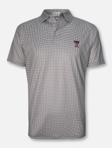 "Peter Millar Texas Tech Red Raiders ""Greek Gingham Stretch Jersey"" Polo"