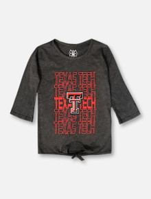 Wes & Willy Texas Tech Red Raiders TODDLER Tie Front Tunic