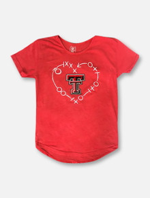 Wes & Willy Texas Tech Red Raiders YOUTH Heart Tunic