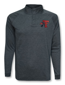 """Under Armour Texas Tech Red Raiders """"Horse and Rider"""" Doubleknit Poly Snap 1/4 Zip Pullover"""