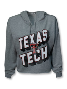 "ZooZatz Texas Tech Red Raiders ""Ambition"" Crop Top Hoodie"