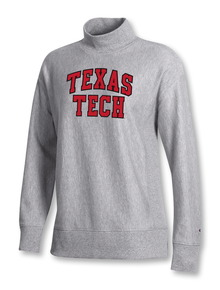 "Champion Texas Tech Red Raiders ""French Terry Arch"" Mock Sweatshirt"