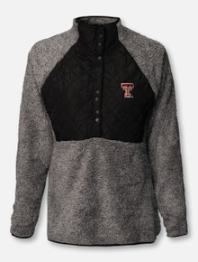 """Antigua Texas Tech Red Raiders """"Surround"""" 1/2 Snap Quilted Pullover"""
