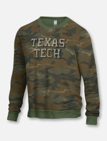 "Texas Tech Red Raiders ""The Champ"" Camo Crew Neck Sweater"