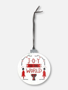 Legacy Texas Tech Red Raiders Joy to the World Wooden Ornament