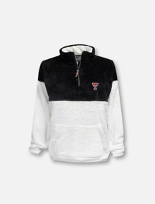 Summit Texas Tech Red Raiders Plush Colorblock YOUTH Sherpa 1/4 Pullover