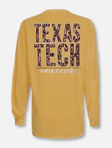 Texas Tech Red Raiders Stack in Leopard Long Sleeve T-Shirt