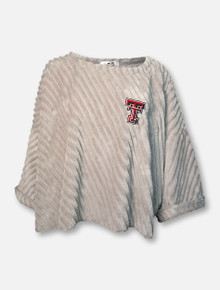 "Texas Tech Red Raiders ""Julie"" Ribbed Mink Oversized Shaw"