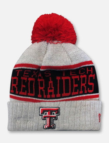 New Era Texas Tech Red Raiders Pom Pom Cuff Beanie