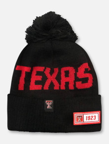 New Era Texas Tech Red Raiders 1923 Patch Pom Pom Beanie