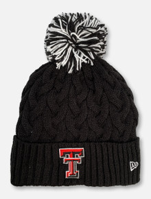 New Era Texas Tech Red Raiders Glitter Plush Pom Pom Beanie