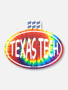 "Texas Tech Red Raiders ""Tie Dye Oval"" Decal"