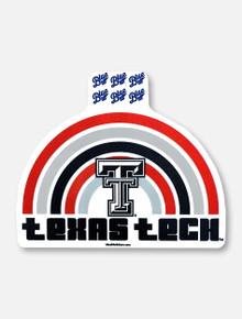 "Texas Tech Red Raiders ""Retro Rainbow"" Decal"