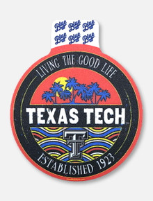 """Texas Tech Red Raiders Black and White Double T """"Brainchild"""" Decal"""