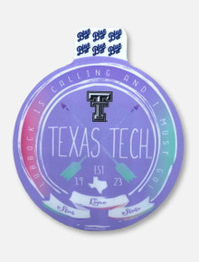 """Texas Tech Red Raiders Black and White Double T """"Aspired"""" Decal"""