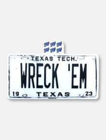 """Texas Tech Red Raiders """"State License"""" Decal"""