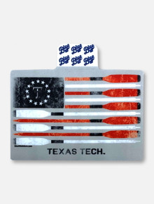 """Texas Tech Red Raiders Black and White Double T """"Skimmed"""" Decal"""