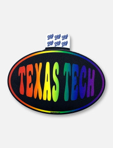 "Texas Tech Red Raiders ""Rainbow Lifestyle"" Decal"