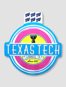 """Texas Tech Red Raiders Black and White Double T """"Jamboree"""" Decal"""