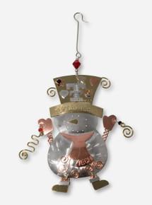 Texas Tech Copper Snowman Ornament
