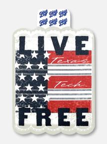 """Texas Tech Red Raiders """"Live Free Garter Toss"""" Decal"""