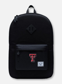 "Herschel Texas Tech Red Raiders ""Dark Grid"" Black Backpack"