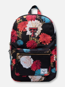 "Herschel Texas Tech Red Raiders ""Vintage Floral"" Black Backpack"