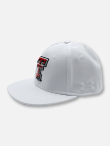 Under Armour Texas Tech Red Raiders Double T Flag YOUTH Huddle Stretch Fit Cap