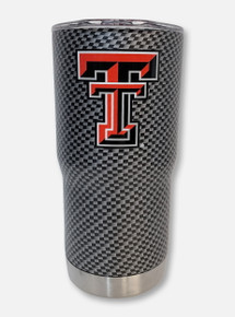 Texas Tech Red Raiders Carbon Fiber Double Walled 20 oz Travel Tumbler