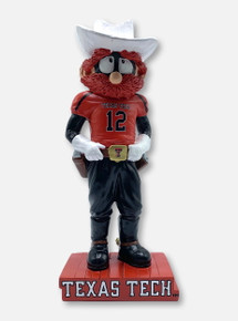 Texas Tech Raider Red Mascot Platform Statue