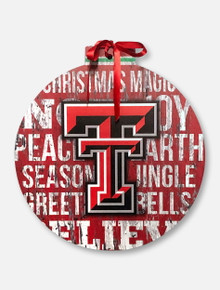 Texas Tech Red Raiders Large Wooden Ornament