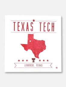 Texas Tech Red Raiders State With Star Over Lubbock Canvas Wall Art