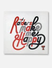 "Texas Tech Red Raiders ""Make Me Happy"" 70s Canvas Wall Art"
