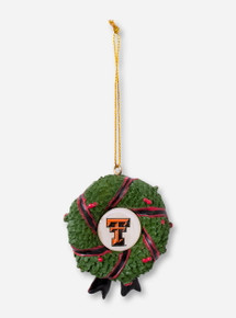 Double T in Christmas Wreath Ornament