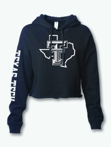 """Texas Tech Red Raiders """"Lights Out"""" Hooded Crop Top"""