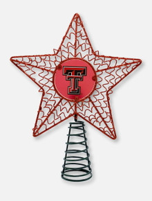 Texas Tech Red Raiders Red Glitter Star Tree Topper