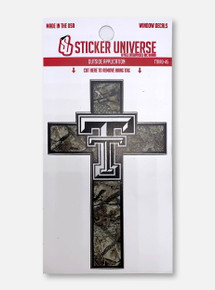 Texas Tech Red Raiders Camo Cross Decal