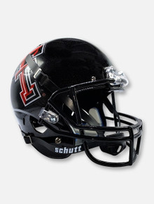 Schutt Texas Tech Red Raiders Bass Boat Reflective Finish Black Replica Helmet
