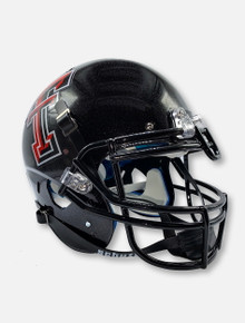 Schutt Texas Tech Red Raiders Bass Boat Reflective Finish Black Authentic Helmet