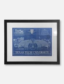 """Texas Tech Red Raiders Framed Stadium Blueprint Wall Art 19"""" x 25"""""""