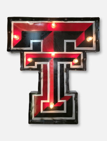 Texas Tech Red Raiders Double T Illuminated Metal Wall Decor