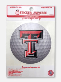 Texas Tech Red Raiders Double T Golf Decal