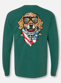 "Texas Tech Red Raiders ""Dog Gone Good"" Blue Spruce Long Sleeve T-Shirt"