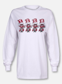 "Blue 84 Texas Tech Red Raiders ""Flag Squad"" White Long Sleeve T-Shirt"