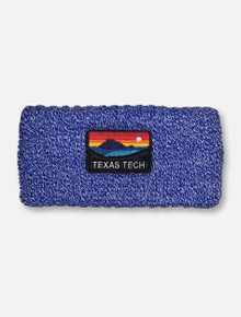 "Texas Tech Red Raiders ""Sunset"" Blue Knit Headband"