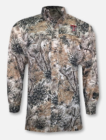 Game Guard Texas Tech Double T Camo Fishing Long Sleeve Dress Shirt