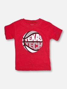Texas Tech YOUTH Puff Print Red Basketball T-Shirt